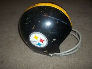 pittsburgh steelers full size helmet Rawlings size large used early 1980's