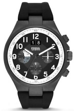 Fossil Men's CH2918 Qualifier Chronograph Black Silicone Strap Watch