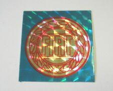 VECCHIO ADESIVO AUTO anni '80 / Old Sticker FIAT (cm 4x4) blu carta brillante