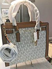 Michael Kors Dillon Large NS Convertible Top Zip Satchel Tote Vanilla Acorn $428