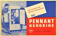 Shell PENNANT KEROSINE For Cleaner and Better Refrigeration Notebook 2 pages NEW