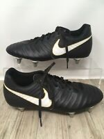Black Nike Tiempo Rio IV SG 897760-002 Football boots metal stud UK Size 8 VGC