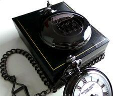 Clockwork Orange Full Hunter Black Pocket Watch in Gift Case Great Memorabilia