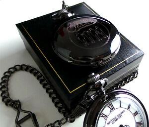 Clockwork Orange Full Hunter Black Pocket Watch Gift Case Movie Memorabilia