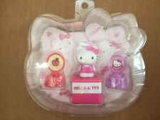 Hello Kitty Head shape Stamp Set Pink White authentic brand new