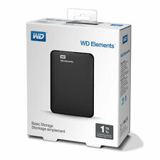 New Western Digital Elements 1TB,External,7200RPM (WDBUZG0010BBK-NESN) Portable