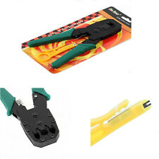 New Rj45 Rj12 Rj11 Cat5 Cat5e Network Lan Cable Crimper Pliers Tools us seller