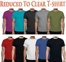 Mens Plain T- Shirt 2, 5,7 & 10 Lot Multi Pack Basic Cotton Casual Shirt Tee Top