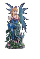 "6"" Inch Blue Fairy with Butterfly Statue Figurine Figure Fantasy Magical"