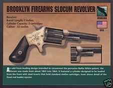 BROOKLYN FIREARMS SLOCUM REVOLVER .32 Rimfire Classic Firearms Gun PHOTO CARD