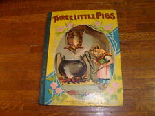 THREE LITTLE PIGS & OTHER STORIES, antique vintage book, charles graham & co