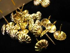 500 OTTONE DAISY Tappezzeria Chiodi-Ottone 12mm cupola Furniture Stud PIN 13mm chiodi
