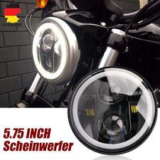 """Motorrad Scheinwerfer 5.75"""" 5-3/4'' LED Weiß Halo Ring DRL Für Harley E-Geprüft"""