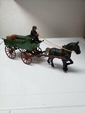 NICE ANTIQUE CAST IRON Horse drawn Wagon