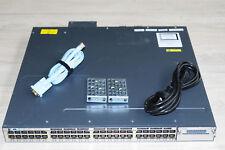 Cisco WS-C3750X-48P-E (-S/-L) Switch 48xGE PoE Upgraded IPService IOS