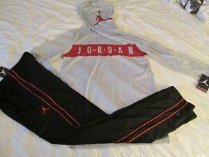 NEW 2Pc NIKE Air Jordan Boys School/Play OUTFIT Pants+Hoodie Top Yxl FREE SHIP!