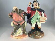 Lot of 2 Royal Doulton Figurines Town Crier Hn 2119 and Falstaff Hn 2054
