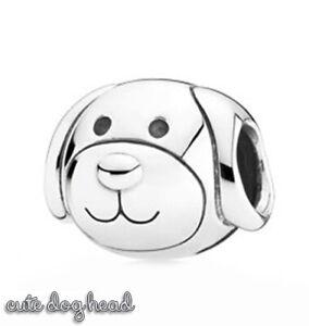 Pandora Genuine ALE 925 Silver Cute Dog Head Charm 791707 A20