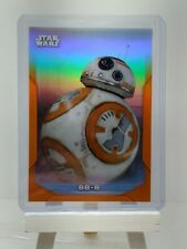 BB-8 2020 TOPPS CHROME STAR WARS PERSPECTIVES ORANGE REFRACTOR #/25 5-F