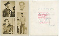 1947 COULTER IRWIN SOCIETY OF MODELS PROFESSIONAL HEADSHOT VINT ORIGINAL PHOTO