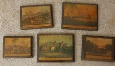 Set of Civil War Pictures mounted on solid Wood Plates,.clear Finish coated,
