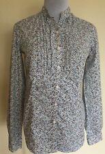 Tommy Hilfiger Long Sleeve Button Down Floral Shirt Blouse SZ XS