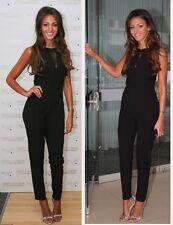 Lipsy Michelle Keegan Black Lace Halter neck Size 14 Jumpsuit Party Club Dress