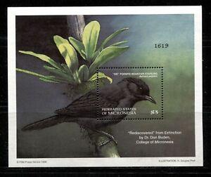 MICRONESIA 1998, BIRD, Scott 300, SOUVENIR SHEET, MNH