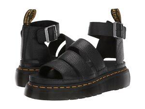 Women's Shoe Dr. Martens CLARISSA II QUAD Leather Platform Sandal 24476001 BLACK