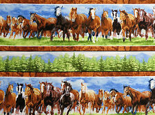 Wild at Heart Repeating Stripe Trees & Wild Horses Wilmington #2257 By the Yard