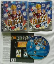 BUZZ! QUIZ TV VIDEO GAME PS3 SONY PLAYSTATION 3 WITH CASE & MANUAL FREE SHIPPING