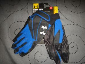 UNDER ARMOUR CLEANING UP IV BATTING GLOVES XXL LEATHER PALM MEN NWT $$$$