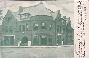 UDB postcard 1907, the YMCA and Dodge Pharmacy, Plainfield, NJ