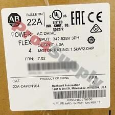 2020 2021 Allen Bradley Powerflex 4 15 Kw 2 Hp Ac Drive 22a D4p0n104