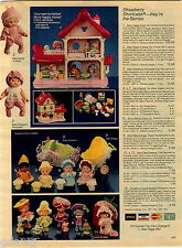 1984 ADVERT Strawberry Shortcake Doll Berry Baby Get Along Plush Animals Caboose