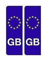 2 x GB Euro Number Plate Stickers EU European Road Legal Car Badge Vinyl