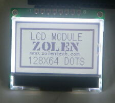 12864 128x64 Serial Spi Graphic Cog White Lcd Display Module Lcm With St7565p 5v