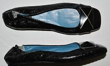 BIALA SZ 5 M BLACK LEATHER BALLET FLATS SHOES ITALY