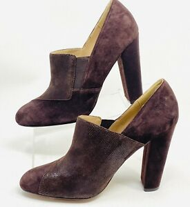 Isola Tanwen 6501330 Brown Suede Slip On Heels Women's Shoes Size 10 M $100