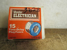 Master Electrican CPB 919E and 143081  15W Time Delay Plug Fuse box of 4