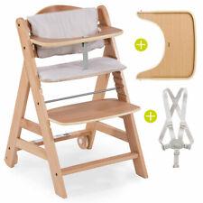 Hauck Hochstuhl Beta Plus Baby Kinder Holz Treppenhochstuhl Natur mit Sitzkissen