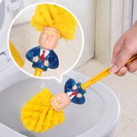 Durable Bathroom Brush Toilet Bowl Donald Trump Funny Home Plastic Gag Gift New