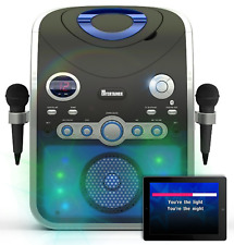 More details for bluetooth karaoke machine with party lights & 200 cdg hits songs & 2 mics