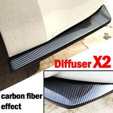 2x Carbon Fiber Rear Bumper Lip Diffuser Splitter Canard Protector Car Universal