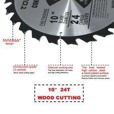 "Circular Saw Blade 10"" 5/8"" 1 pc 24T Table Miter Cutting for DeWalt & Makita"
