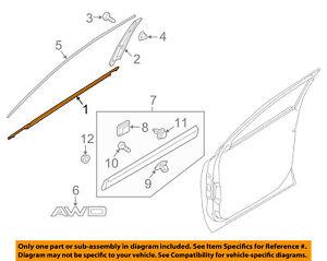 KIA OEM Sorento-Door Window Sweep-Belt Molding Weatherstrip Right 82220C5000