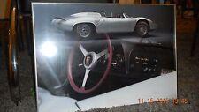 Rare Nielsen framed 1961-64 Porsche 718 W-RS Spyder Art Poster Print, 20X14.5