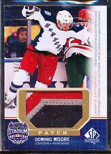 2014-15 SP AUTHENTIC STADIUM SERIES DOMINIC MOORE JERSEY PATCH 54/99