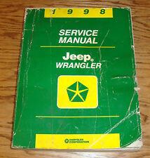 Original 1998 Jeep Wrangler Shop Service Manual 98