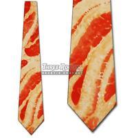 Bacon Tie Food Neckties Mens Crispy Sizzling Neck Ties Brand New